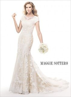 Find the perfect wedding gown! This is one of many available in our store - come in to try one on today!