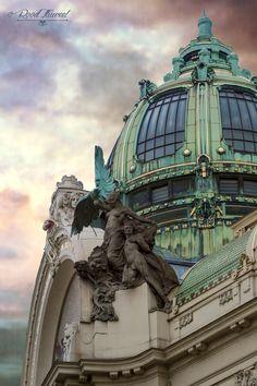 Prague, Obecni-Dum (Municipal House), art nouveau by Alphonse Mucha photo Roodfluweel @@@ …reépinglé par Maurie Daboux.•*´♥*•❥ڿڰۣ—