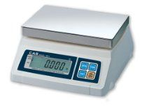 CAS SW series portable digital scales are battery operated and NTEP approved - ideal for use as a food scale or for legal for trade retail weighing. Capacities from 5 to 50 lbs - weighs in pounds, kilograms, grams or ounces (switchable) Cas, Kitchen Measuring Tools, Digital Food Scale, Postal Scale, Weight Scale, Restaurant Equipment, Portion Control, Food Service, Cooking Tools