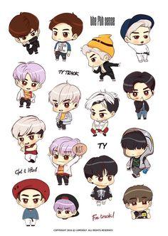 'Jaehyun sticker' Sticker by Bu-ho Nct Taeyong, Chibi, Printable Stickers, Cute Stickers, Kpop Drawings, Tumblr Stickers, Kids Wallpaper, Kpop Fanart, Nct 127