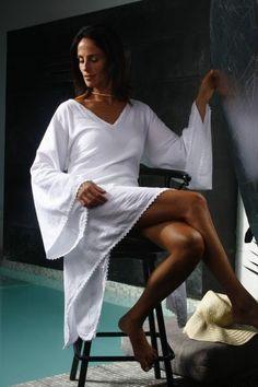 91fda13ee3 SUMAK Organic Cotton Low High Crochet Bell Sleeves Nautical White Bohemian, Cotton  Crochet, Floral
