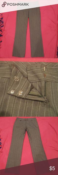 Dress pants Grey stripped dress pants My Michelle Pants Trousers