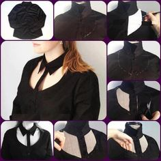 Cut Out Shirt – DIY Give a new look to your old shirt and be chic wherever you wear it. You will need : - normal shirt; Diy Kleidung, Diy Vetement, Old Shirts, Diy Fashion, Fashion Design, Fashion Tips, Clothing Hacks, T Shirt Diy, Sewing Clothes