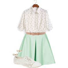 Polka Dot Lace by durinsdaughter on Polyvore