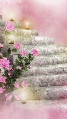 By Artist Unknown. Power Wallpaper, Wallpaper Iphone Cute, Cellphone Wallpaper, Pink Wallpaper, Cool Wallpaper, Beautiful Wallpapers For Iphone, Beautiful Nature Wallpaper, Cute Wallpapers, Beautiful Images