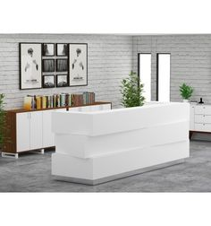 Buy Reception Desk in Dubai | Custom Made Modern Wooden Reception Desk - High Quality Wood from Egger®-Germany Online from iFurniture Office Furniture
