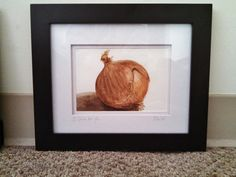 Kitchen Pictures: Onion (I Cried for You). Original watercolor on paper. 12 x 10