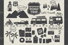 Road trip design elements by faitotoro on @creativemarket