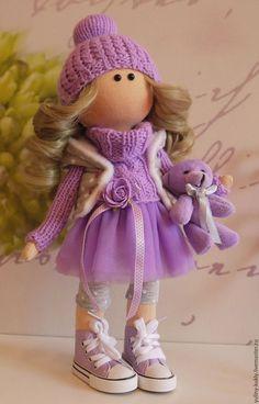 Купить или заказать Текстильная куколка-малышка Фло в интернет-магазине на…