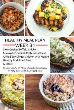 Healthy Meal Plans Week 32 - Slender Kitchen