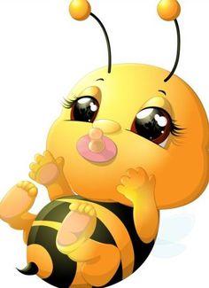 lovely cartoon bee set vectors 19