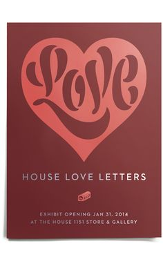 House Industries, House 1151, Neutraface, Love Hearts, Stencil