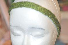 metallic green headband by jfaypaperdolls on Etsy