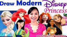Art Challenges! A  Fun Art Video - Draw Disney Princess as MODERN GIRLS!