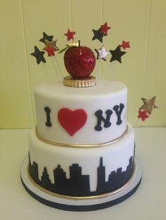 I love New York themed cake