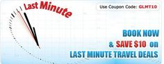 Last Minute Flights - http://goo.gl/uYGyKD Travel Discounts- Coupon Code:- GLMT10 Call:- 1-888-206-2080 (Toll Free)