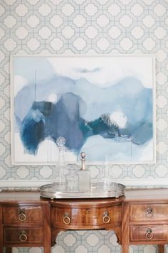 modern art + classic buffett = super chic (collins interiors)