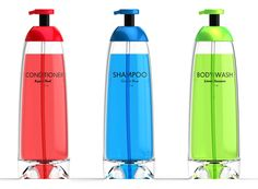 last drop bottles. design to make it possible to get the last bits of soap/body wash/shampoo out of the bottle