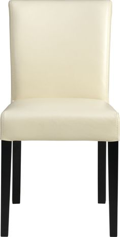 This classic Parsons chair comes in colors that are classic and fashion-forward.  The look is bold and modern in soft pebbled bicast leather and double saddle-stitching.  Crafted of solid birch with legs stained a rich ebony. Solid birch and low-emission engineered woodWeb suspensionBicast leather with foam paddingDouble saddle-stitch detailDesigned and tested for use in commercial spaces such as offices, restaurants and hotelsMade in China.