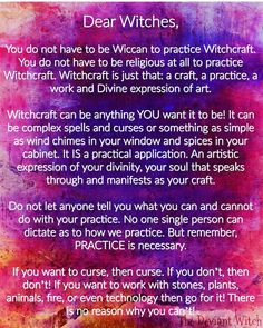 ∆ A Way of the Wise... Witchcraft is inherently secular -a craft, like wood working, knitting, or painting. The only difference is that its medium is spiritual forces.