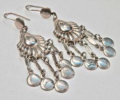 European Dangle Earrings Tribal Style Ethnic Jewelry Silver Chandeliers Chandelier Earrings Antique Earrings Vintage Jewelry Signed European by TheJewelryChain on Etsy