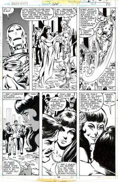 Iron Man #124 page 10 - John Romita Jr Comic Art