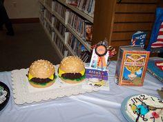 Jacqui R. won the prize for Most Creative at Burton Public Library's 2012 Edible Book Festival