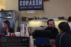 Santa Barbara, CA Corazon Concina-- Only on Sundays Pop-Up restaurant--Corazon Cocina chef Ramon Velazquez, who owns the pop-up restaurant with his wife, Chrissie, often has a running conversation with his customers, many of whom return every Sunday.