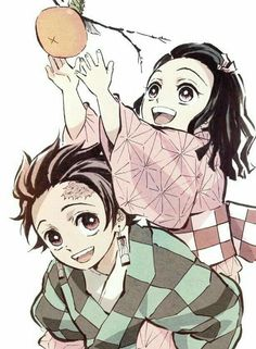 Tanjiro and Nezuko - Demon Slayer: Kimetsu no Yaiba Anime Siblings, Girls Anime, Anime Couples, Kawaii Anime, Manga Art, Anime Art, Thicc Anime, Hot Anime, Manga Dragon