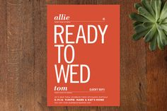 Ready to Wed Bridal Shower Invitations by pottsdesign at minted.com