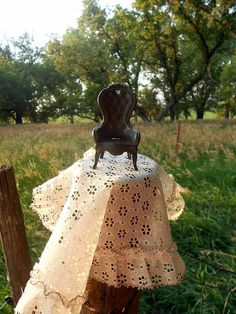 Miniature Doll chair Cast Iron Victorian Style