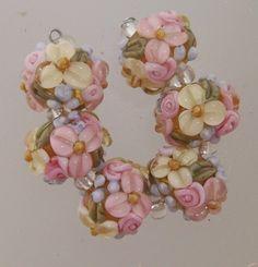 BLISS Spring Medley Wild Blossom and Rosebud Abundance Lampwork Beads