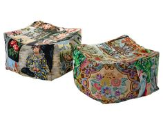 Tapestry Pouffes