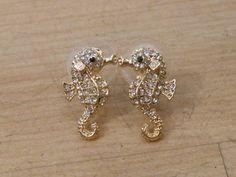 Seahorse earrings. Love seahorses. ......