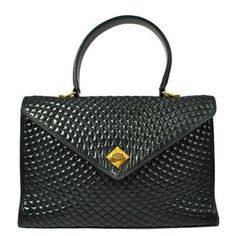 Bally Quilted Vintage Leather Bag