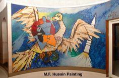 god mf husain painting