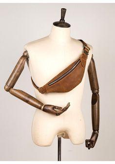 Vintage Brown Mens Leather Mens Fanny Pack Brown Waist Bag Hip Pack Belt Bag Bum bag for Men Leather Fanny Pack, Bum Bag, Waist Pack, Custom Bags, Dark Brown Leather, Long Wallet, Leather Men, Leather Purses, Collaboration