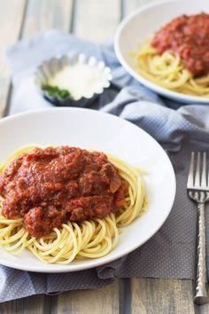 ... Pasta on Pinterest   Slow cooker spaghetti sauce, Pasta and Spaghetti