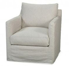Custom Slipcovered Swivel Glider Chair Cayce