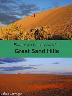 Great Sand Hills in Saskatchewan Camping Places, Places To Travel, Places To See, Travel Destinations, Cross Canada Road Trip, Visit Canada, Canada Eh, Voyage Canada, Holidays To Mexico