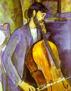 Amedeo Modigliani >> Study for The Cellist