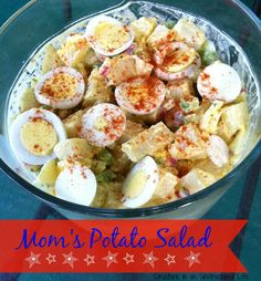 Mom's Potato Salad http://www.structureinanunstructuredlife.com/2014/05/25/moms-potato-salad/?utm_campaign=coschedule&utm_source=pinterest&utm_medium=Beth%20At%20Structure%20(Yummy!)&utm_content=Mom's%20Potato%20Salad