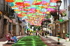9 Unique and Amazing Streets (pink street, blue street, umbrella street, fake street) - ODDEE
