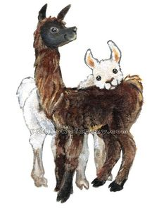 Cute Llama Print Farm Animal Art Llama Pair I by rainbowofcrazy Alpacas, Llama Print, Llama Llama, Llama Face, Animal Drawings, Art Drawings, Alpaca Drawing, Farm Animals, Cute Animals