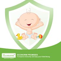 Diarrhea must never come back to get your child. Econorm makes sure that your child is strong enough to keep diarrhea away.