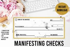 Manifesting Checks// Abundance Checks// Law of Attraction Checks// Manifest Money// Bank of the Universe// Manifestation Checks Dream Bank, Money Bank, Payroll Template, Manifesting Money, Money Pictures, Business Planner, Law Of Attraction, Abundance, As You Like