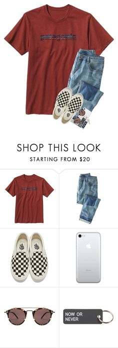 """""""My brother got confirmed today :)"""" by lanegrahamm ❤ liked on Polyvore featuring Patagonia, Wrap, Vans, Oliver Peoples, Various Projects and Maison Margiela"""