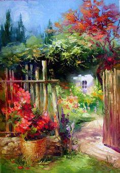 Garden gate   Sally Rosenbaum