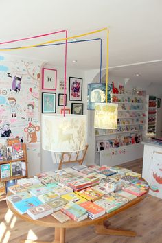 I realise its a shop but its so pretty and inviting. I would love a bookshop like this