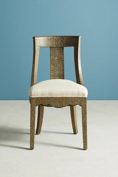 Head chair option Slide View: 4: Hand-Embossed Dining Chair